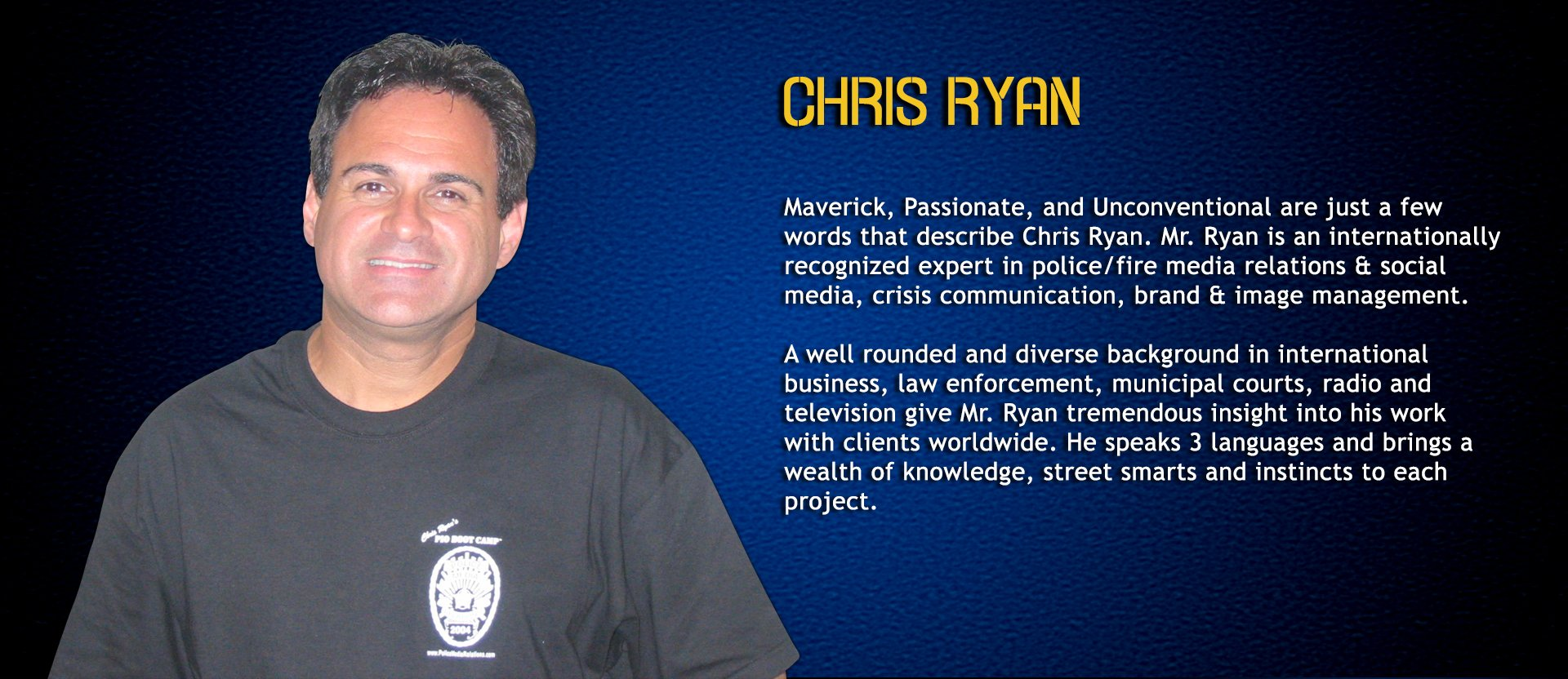 Chris Ryan, Police Recruiting Consultant & Instructor